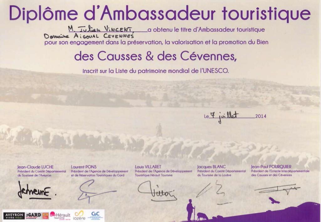 UNESCO Ambassadeur touristique Causses et Cévennes